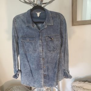 Small Denim button up Forever 21
